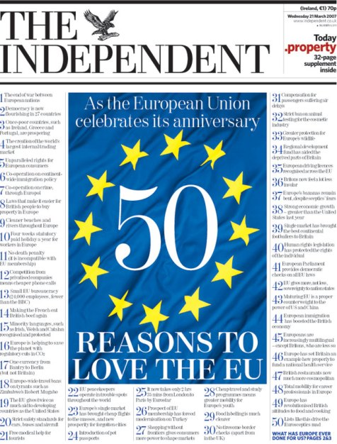 50 reasons to love the EU